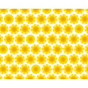 フリーイラスト, ベクター画像, EPS, 背景, 花柄, 向日葵(ヒマワリ), 黄色の花