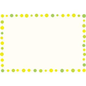 フリーイラスト, ベクター画像, EPS, 背景, フレーム, 囲みフレーム, 水玉模様(ドット柄), 円形(サークル)