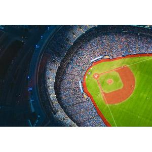 フリー写真, 風景, 建造物, 建築物, 野球場, ロジャーズ・センター, 夜, 観客, スポーツ, 球技, 野球(ベースボール), カナダの風景, トロント