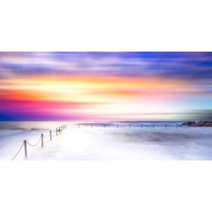 フリー写真, 風景, 海, 海岸, 夕暮れ(夕方), 夕焼け, オーストラリアの風景