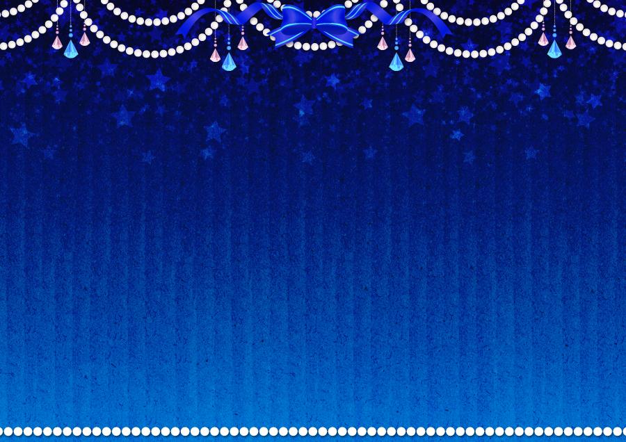 フリーイラスト パールと宝石と星と飾り枠