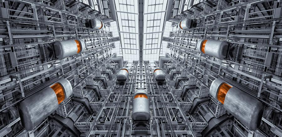 フリー写真 ベルリン証券取引所のエレベーター