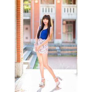 フリー写真, 人物, 女性, アジア人女性, 嚴琪琪(00273), 中国人, ミニスカート