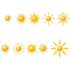フリーイラスト, ベクター画像, SVG, 天気, 晴れ, 太陽, 天体