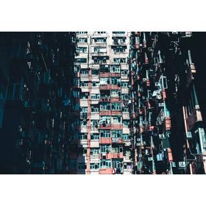 フリー写真, 風景, 建造物, 建築物, 高層ビル, マンション(団地), 住宅, 中国の風景, 香港