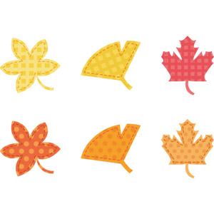 フリーイラスト, ベクター画像, AI, アップリケ(ワッペン), 植物, 葉っぱ, もみじ(カエデ), イチョウ, 紅葉(黄葉), 秋, 落葉(落ち葉)