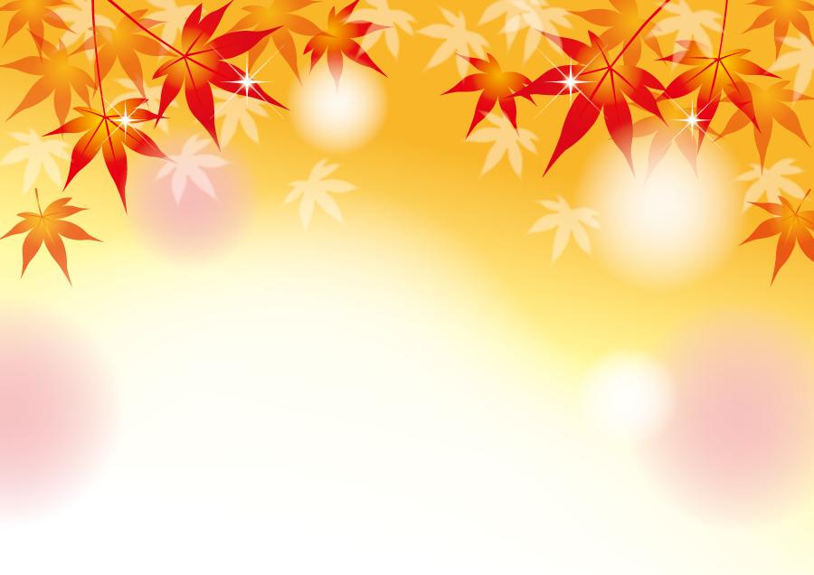 フリーイラスト 紅葉したもみじの秋の背景