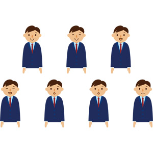 フリーイラスト, ベクター画像, AI, 人物, 男性, 男性(00281), ビジネス, 仕事, 職業, サラリーマン, ビジネスマン, メンズスーツ, 笑う(笑顔), 怒る