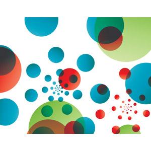 フリーイラスト, ベクター画像, AI, 背景, 抽象イメージ, 円形(サークル)