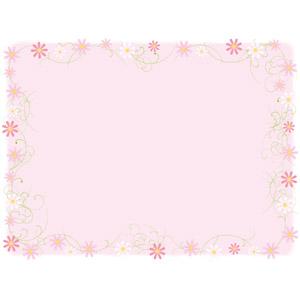 フリーイラスト, ベクター画像, AI, 背景, フレーム, 囲みフレーム, 植物, 花, コスモス(秋桜), ピンク色, 秋