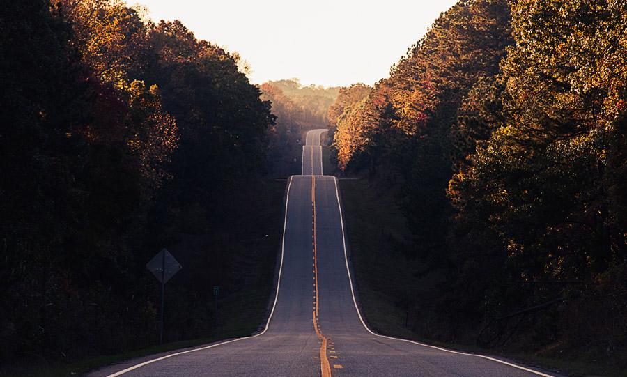 フリー写真 坂道の風景
