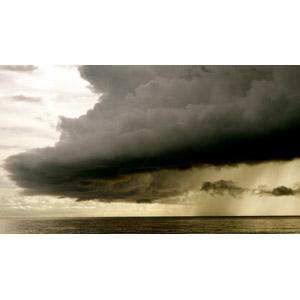 フリー写真, 自然, 雲, 暗雲, 嵐, 雨, 海, 水平線