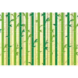 フリーイラスト, ベクター画像, EPS, 背景, 竹林, 竹(タケ), 緑色(グリーン)
