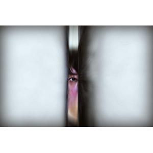 フリー写真, 人物, 人体, 目(眼), 覗く