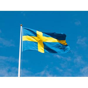 フリー写真, 青空, 国旗, 旗(フラッグ), スウェーデンの国旗