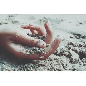 フリー写真, 人体, 手, 砂