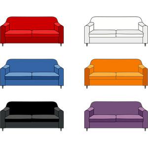 フリーイラスト, ベクター画像, SVG, 家具, ソファー