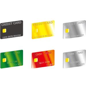 フリーイラスト, ベクター画像, AI, クレジットカード, キャッシュカード, 銀行, 電子決済