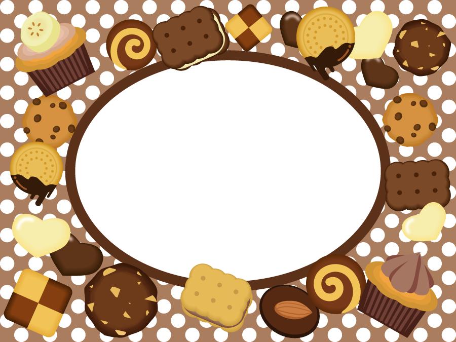 フリー イラストお菓子のフレーム