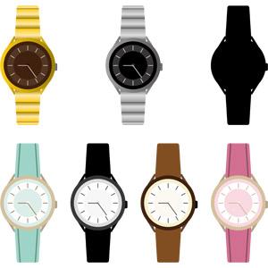 フリーイラスト, ベクター画像, EPS, 腕時計, 時計, メンズファッション, レディースファッション, 装飾品(アクセサリー)