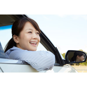 フリー写真, 人物, 女性, アジア人女性, 日本人, 女性(00025), ドライブ, 人と乗り物, 自動車
