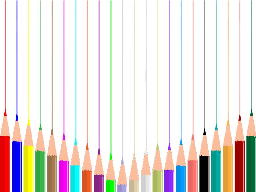 フリー イラスト色鉛筆と引かれた線の背景