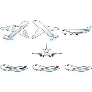 フリーイラスト, ベクター画像, EPS, 乗り物, 航空機, 飛行機, 旅客機
