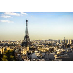 フリー写真, 風景, 建造物, 建築物, 塔(タワー), エッフェル塔, 都市, 街並み(町並み), フランスの風景, パリ