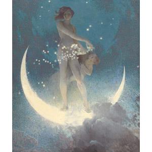フリー絵画, 寓意画, 星(スター), 月, 三日月