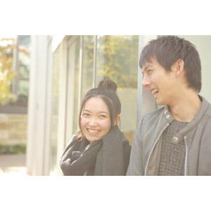 フリー写真, 人物, カップル, 恋人, 日本人, 女性(00037), 男性(00038), 笑う(笑顔), デート, 二人