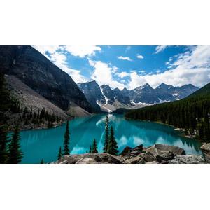 フリー写真, 風景, 自然, 山, 湖, レイク・ルイーズ, カナダの風景