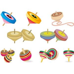 フリーイラスト, ベクター画像, EPS, 玩具(おもちゃ), 独楽(こま)