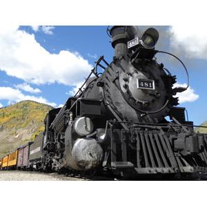 フリー写真, 乗り物, 列車(鉄道車両), 蒸気機関車, アメリカの鉄道車両