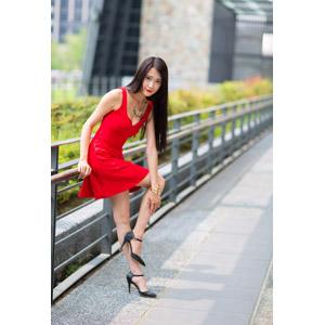フリー写真, 人物, 女性, アジア人女性, 中国人, Neo Li(00040), ドレス, ハイヒール