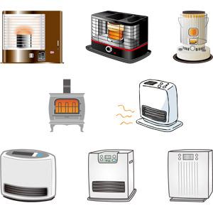 フリーイラスト, ベクター画像, AI, ストーブ, 暖房, 冬