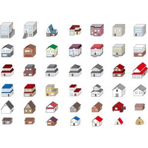 フリーイラスト, ベクター画像, AI, 建造物, 建築物, 住宅, 家(一軒家), マイホーム