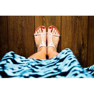 フリー写真, 人体, 足, 靴(シューズ), サンダル