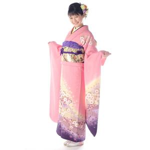 フリー写真, 人物, 女性, アジア人女性, 日本人, 女性(00047), 和服, 着物, 成人式, 正月, 1月, 白背景, 笑う(笑顔)