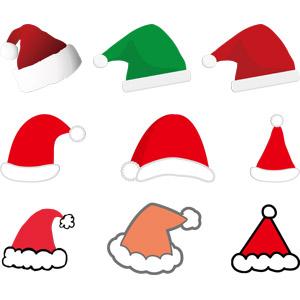 フリーイラスト, ベクター画像, AI, 年中行事, クリスマス, 12月, 帽子, サンタ帽子