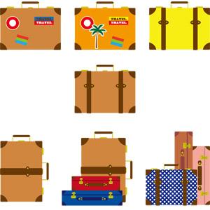 フリーイラスト, ベクター画像, AI, 旅行かばん(トランク), 旅行(トラベル), 鞄(カバン)