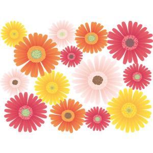 フリーイラスト, ベクター画像, EPS, 背景, 植物, 花, ガーベラ