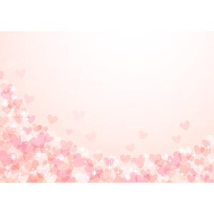 フリーイラスト, ベクター画像, AI, 背景, ハート, 愛(ラブ), ピンク色, 2月, バレンタインデー