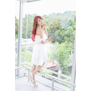 フリー写真, 人物, 女性, アジア人女性, 中国人, 木子萱(00076), ワンピース