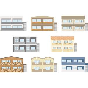 フリーイラスト, ベクター画像, AI, 建造物, 建築物, 住宅, アパート