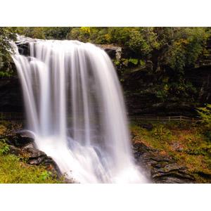 フリー写真, 風景, 自然, 滝, アメリカの風景, ノースカロライナ州