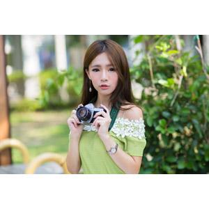 フリー写真, 人物, 女性, アジア人女性, Dora(00078), 中国人, カメラ, 一眼レフカメラ, ペンタックス