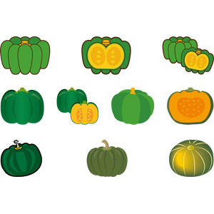 フリーイラスト, ベクター画像, AI, 食べ物(食料), 野菜, 南瓜(カボチャ)