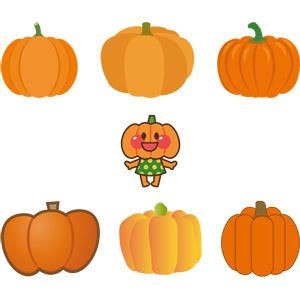 フリーイラスト, ベクター画像, AI, 食べ物(食料), 野菜, 南瓜(カボチャ), ハロウィン(ハロウィーン), 10月
