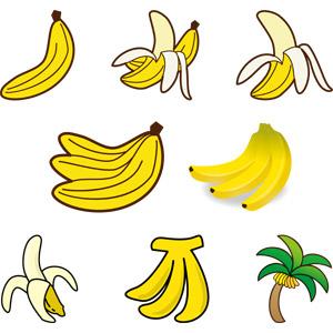 フリーイラスト, ベクター画像, AI, 食べ物(食料), 果物(フルーツ), バナナ
