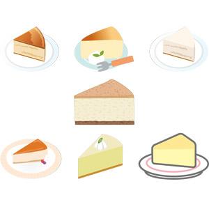 フリーイラスト, ベクター画像, AI, 食べ物(食料), 菓子, 洋菓子, スイーツ, ケーキ, チーズケーキ, チーズ料理